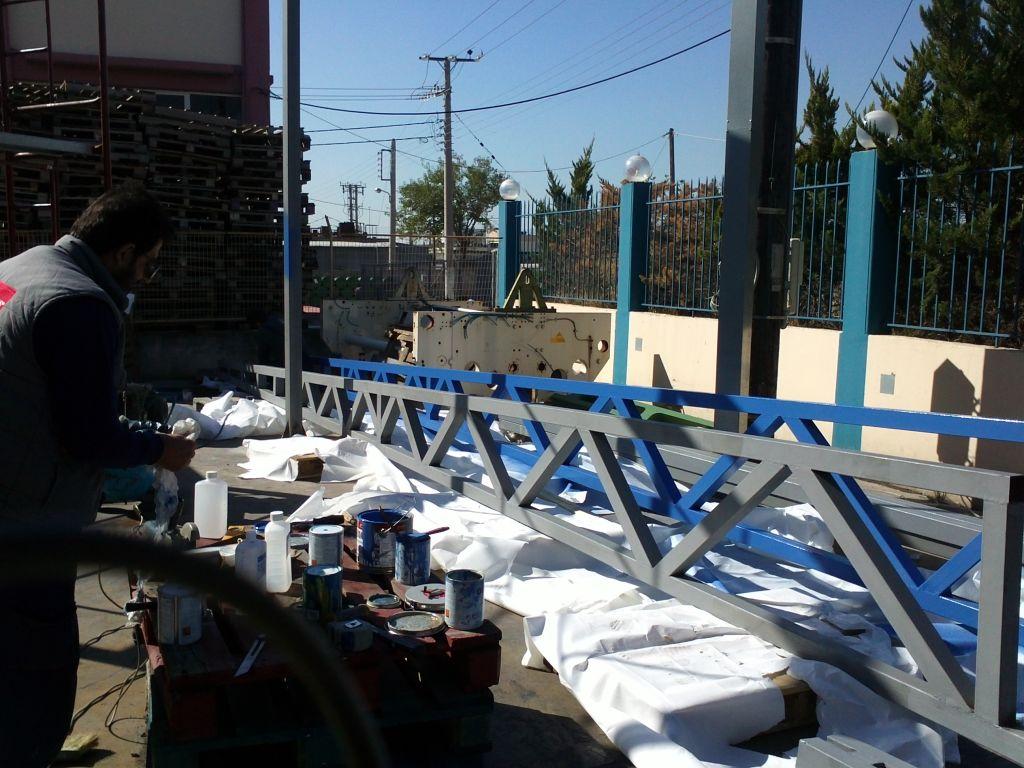 Καλυψη υπαιθριου χωρου 400 m2 για κατασκευη αποθηκης  Σταδιο εργασιων 3ο
