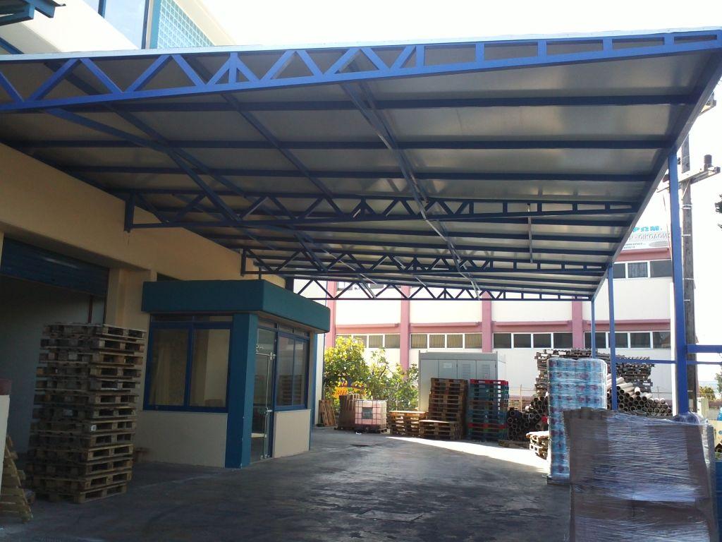 Καλυψη υπαιθριου χωρου 400 m2 για κατασκευη αποθηκης  Σταδιο εργασιων 6ο