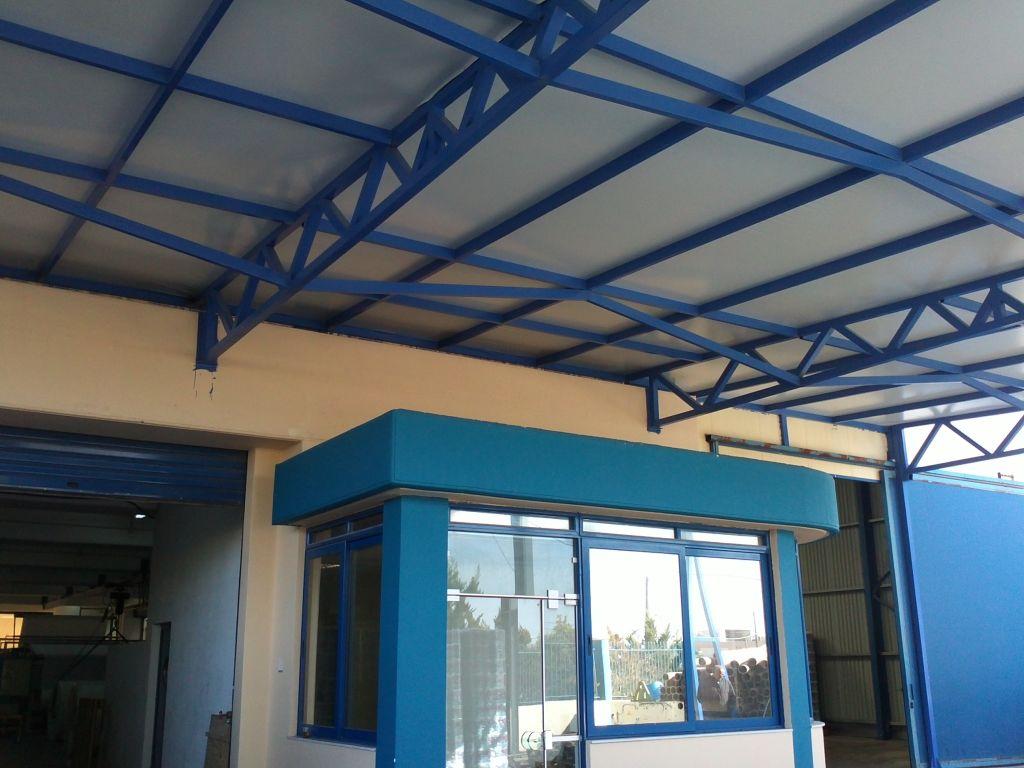 Καλυψη υπαιθριου χωρου 400 m2 για κατασκευη αποθηκης  Σταδιο εργασιων 7ο